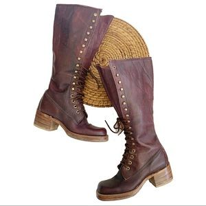 Frye 1970's Vintage Campus Lace Up Leather Boots 5